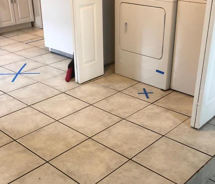 Washer leak causing water damage